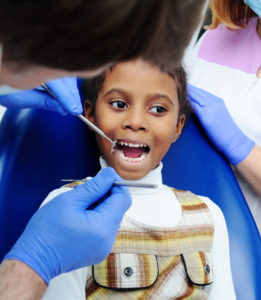 child at a dental appointment
