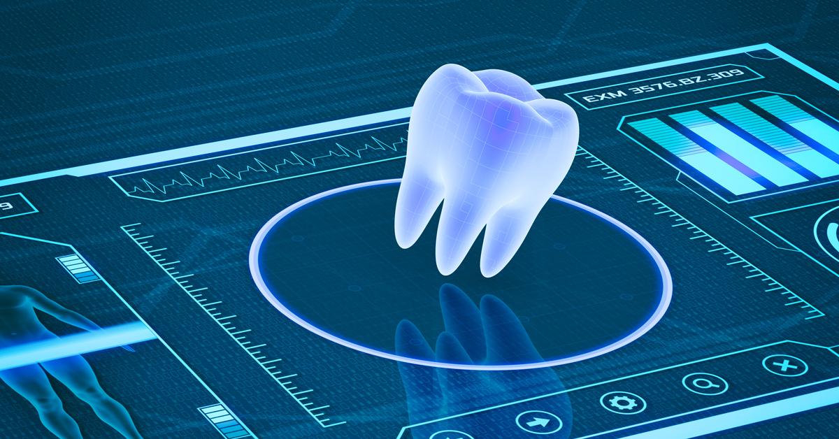 digital illustration of tooth