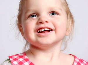 toddler smiling