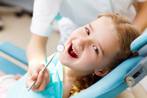 child in the dentist chair
